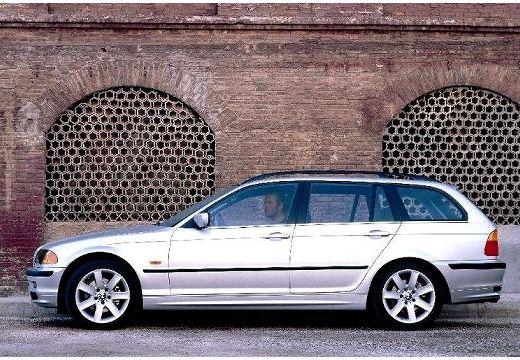BMW Seria 3 kombi silver grey boczny lewy