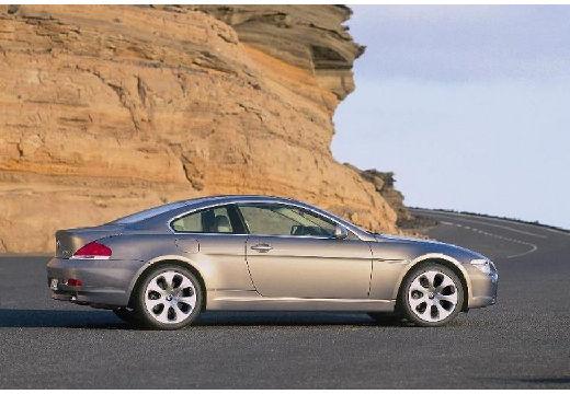BMW Seria 6 E63 I coupe szary ciemny boczny prawy