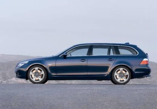 BMW Seria 5 Touring E61 II kombi niebieski jasny boczny lewy