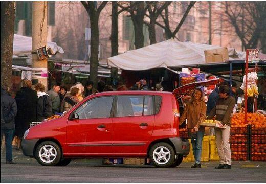 HYUNDAI Atos I hatchback czerwony jasny boczny lewy
