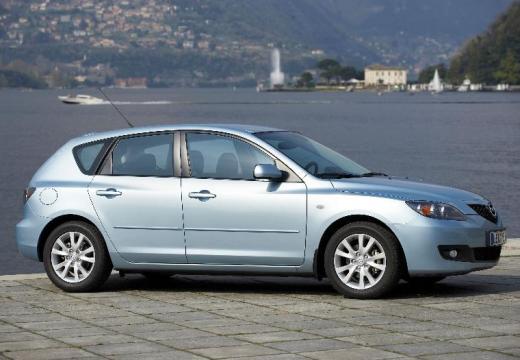 MAZDA 3 II hatchback silver grey przedni prawy