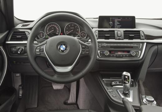 BMW Seria 3 F30 sedan szary ciemny tablica rozdzielcza