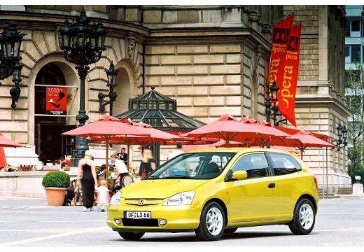 HONDA Civic IV hatchback żółty przedni lewy