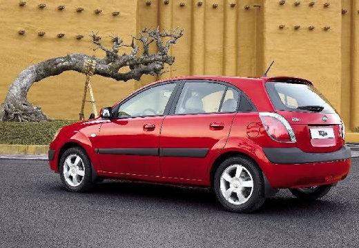 KIA Rio III hatchback czerwony jasny tylny lewy