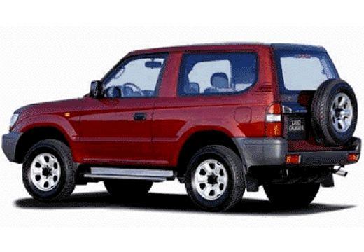Toyota Land Cruiser III kombi bordeaux (czerwony ciemny) tylny lewy