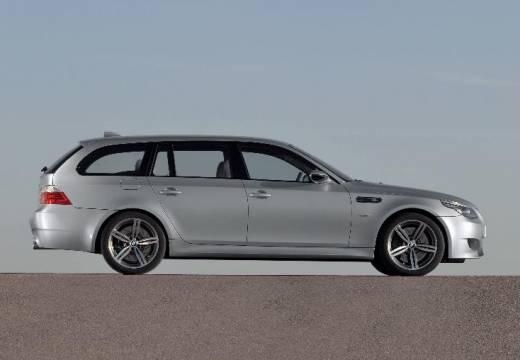 BMW Seria 5 Touring E61 II kombi silver grey boczny prawy