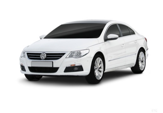 VOLKSWAGEN Passat CC sedan biały przedni lewy