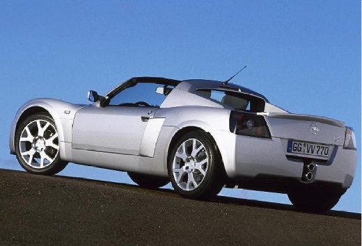 OPEL Speedster roadster silver grey tylny lewy