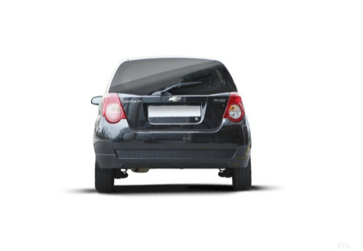 CHEVROLET Aveo II hatchback czarny tylny