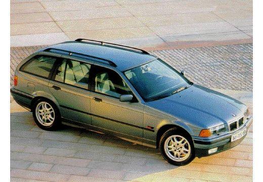 BMW Seria 3 kombi niebieski jasny przedni prawy