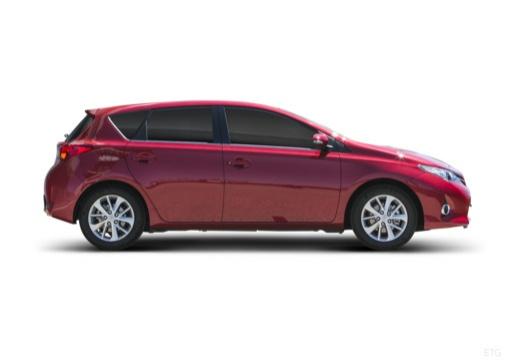 Toyota Auris I hatchback czerwony jasny boczny prawy