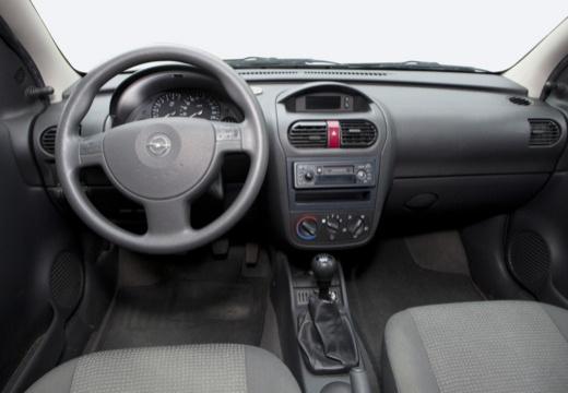 OPEL Corsa C II hatchback silver grey tablica rozdzielcza