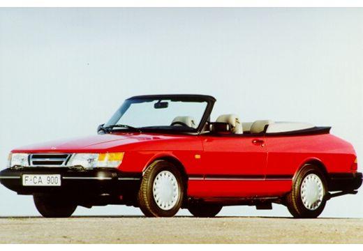 SAAB 900 Cabriolet Classic kabriolet czerwony jasny przedni lewy