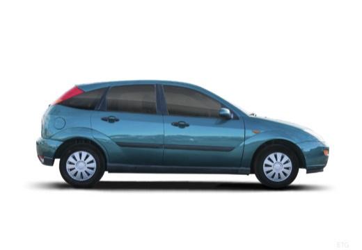 FORD Focus I hatchback niebieski jasny boczny prawy