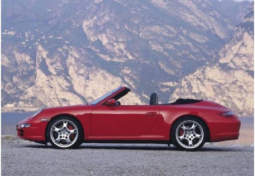 PORSCHE 911 Cabrio 997 kabriolet bordeaux (czerwony ciemny) boczny lewy