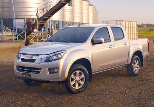 ISUZU D-Max II pickup silver grey przedni lewy