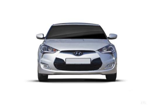 HYUNDAI Veloster I coupe silver grey przedni