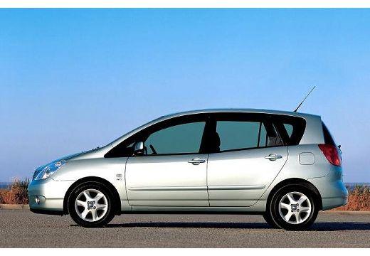 Toyota Corolla Verso I kombi mpv silver grey boczny lewy