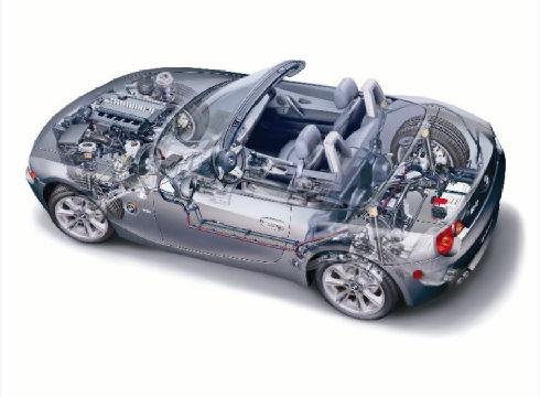 BMW Z4 E85 I roadster szary ciemny prześwietlenie