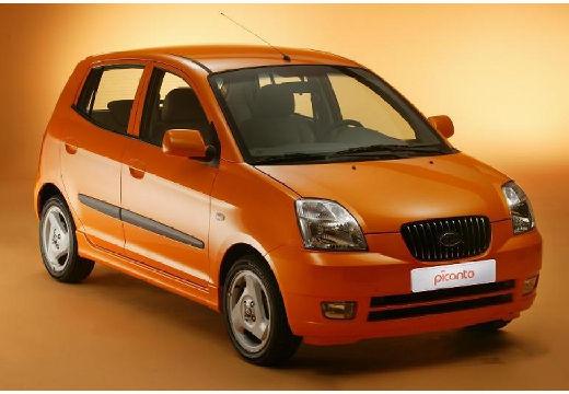KIA Picanto I hatchback pomarańczowy przedni prawy