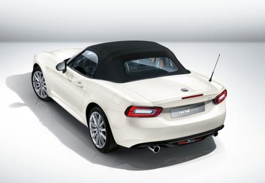 FIAT 124 kabriolet biały górny tylny