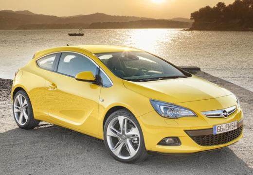 OPEL Astra IV GTC II hatchback żółty przedni prawy