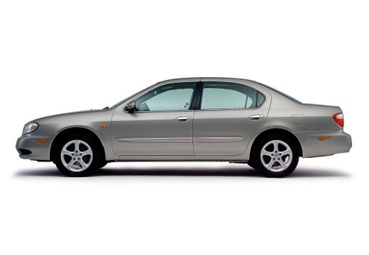 NISSAN Maxima QX II sedan silver grey boczny lewy