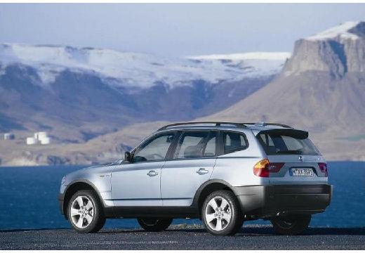 BMW X3 kombi silver grey tylny lewy