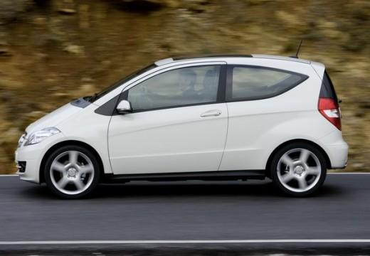 MERCEDES-BENZ Klasa A W 169 II hatchback biały boczny lewy