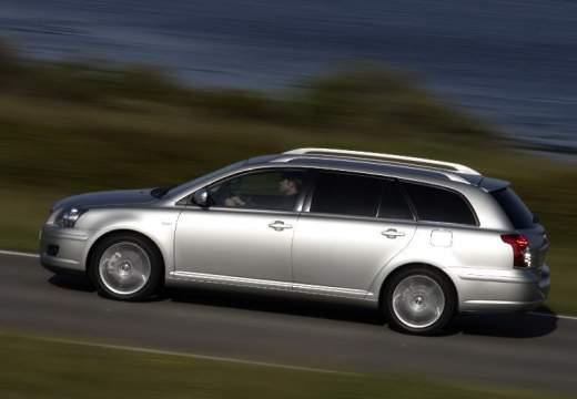 Toyota Avensis IV kombi silver grey boczny lewy
