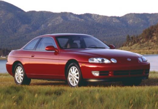 LEXUS SC coupe czerwony jasny przedni prawy