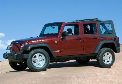 JEEP Wrangler III soft top czerwony jasny przedni lewy