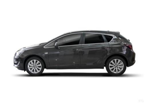 OPEL Astra IV II hatchback czarny boczny lewy