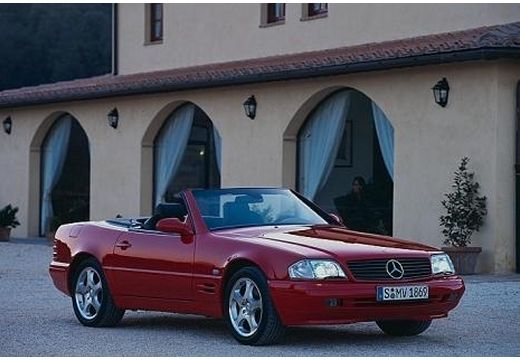 MERCEDES-BENZ Klasa SL SL R129 I kabriolet czerwony jasny przedni prawy