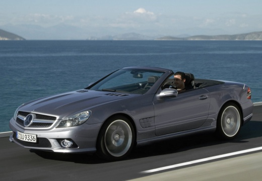 MERCEDES-BENZ Klasa SL roadster silver grey przedni lewy