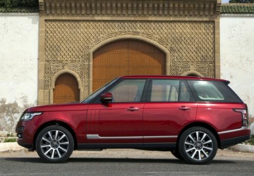 LAND ROVER Range Rover VI kombi czerwony jasny boczny lewy