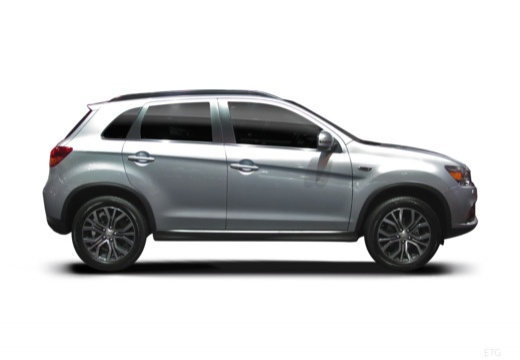 MITSUBISHI ASX hatchback silver grey boczny prawy