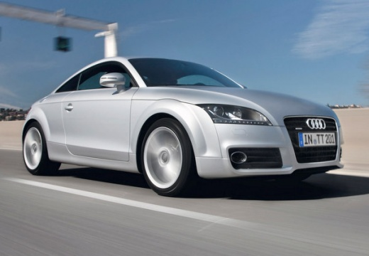 AUDI TT II coupe silver grey przedni prawy