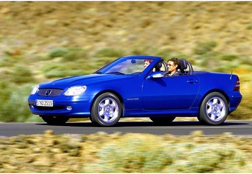 MERCEDES-BENZ Klasa SLK SLK R 170 kabriolet niebieski jasny przedni lewy