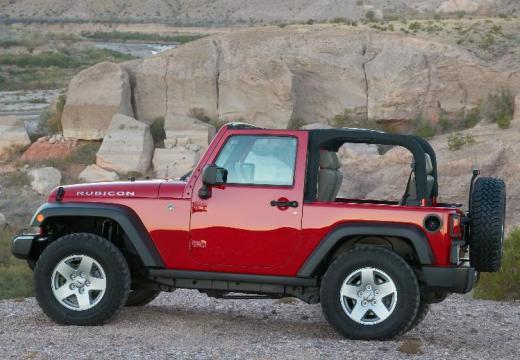 JEEP Wrangler III soft top czerwony jasny boczny lewy