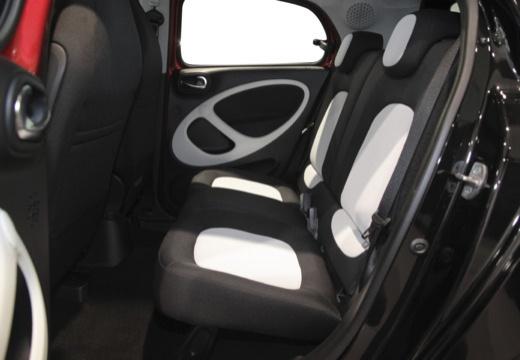 SMART forfour II hatchback czerwony jasny wnętrze