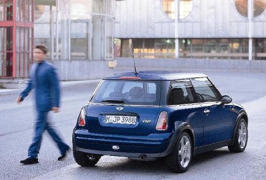 MINI [BMW] Cooper hatchback niebieski jasny tylny prawy