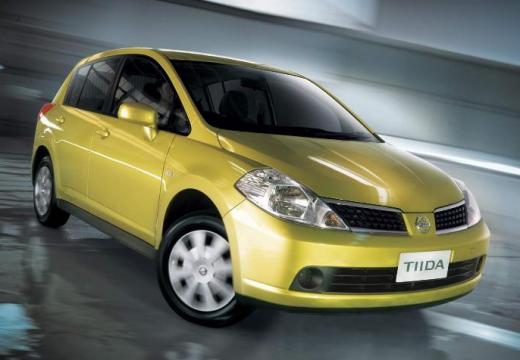 NISSAN Tiida hatchback żółty przedni prawy