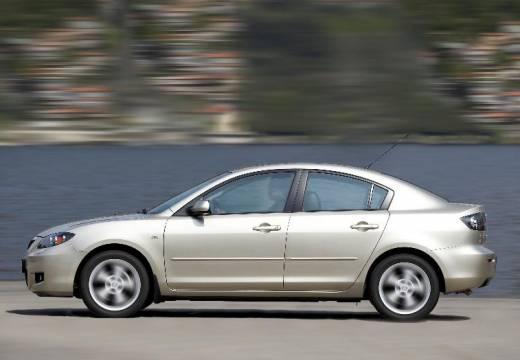 MAZDA 3 II sedan silver grey boczny lewy