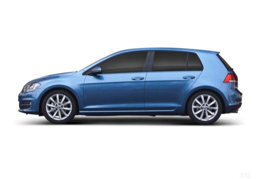 VOLKSWAGEN Golf VII I hatchback niebieski jasny boczny lewy