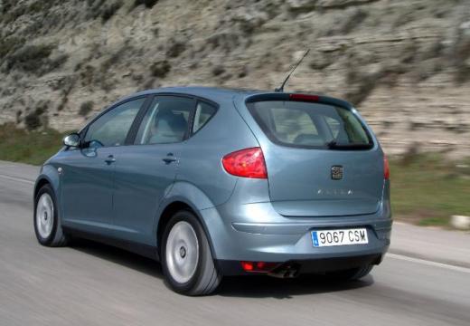 SEAT Altea I hatchback niebieski jasny tylny lewy