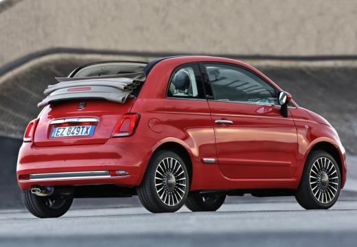 FIAT 500 kabriolet czerwony jasny tylny prawy