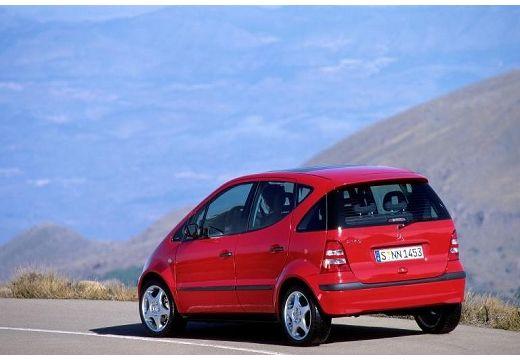 MERCEDES-BENZ Klasa A W 168 II hatchback czerwony jasny tylny lewy