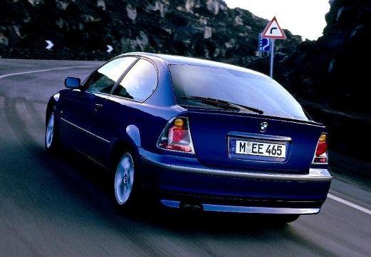 BMW Seria 3 hatchback niebieski jasny tylny lewy