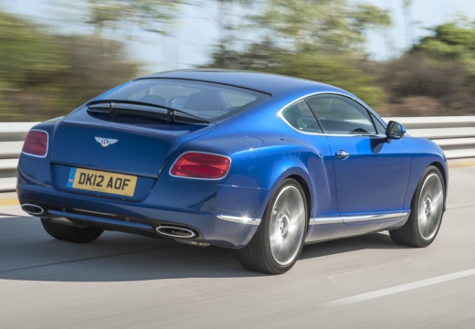 BENTLEY Continental GT II coupe niebieski jasny tylny prawy